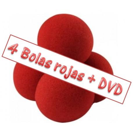 Bolas esponja de 4 cm. + DVD (sponge balls)