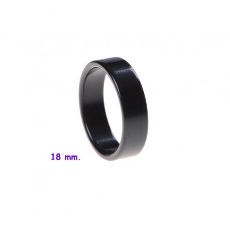 Anillo PK plano - color negro (PK ring black)