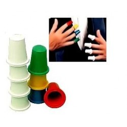 Dedales de colores (thimbles magic trick)