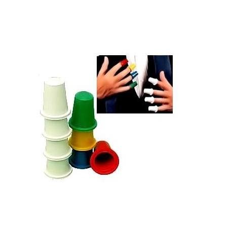 Dedales de colores (thimbles magic trick)