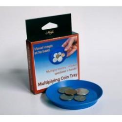 Plato multiplicación de monedas (multiplying coin tray)