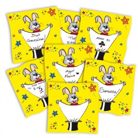 Pañuelo de seda con mensaje personalizado