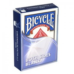 Baraja Bicycle doble dorso blanco/blanco (double back blank/blank)