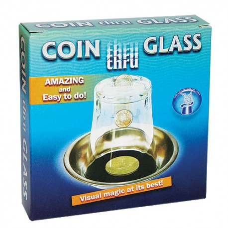 Moneda a través del vaso - (coin thru glass)