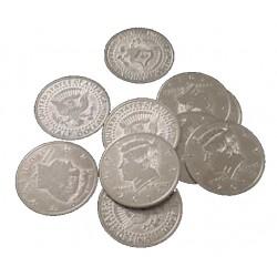 Monedas de medio dólar extrafinas (palming coin)